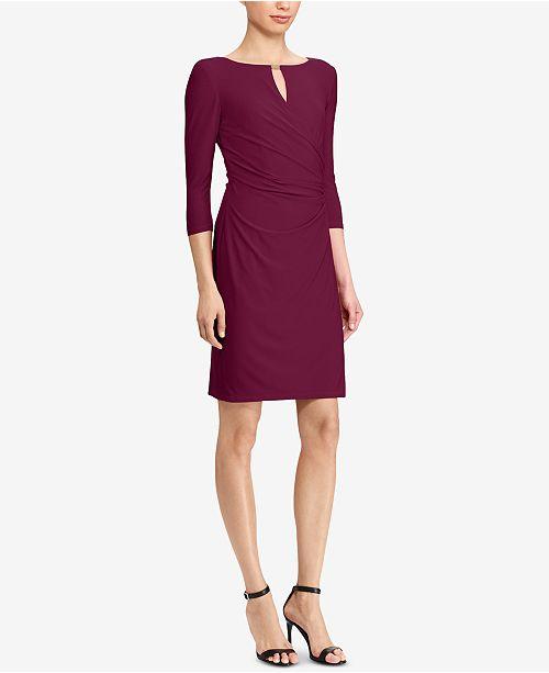 d859bfe2e464f Lauren Ralph Lauren Keyhole Faux-Wrap Dress   Reviews - Dresses ...
