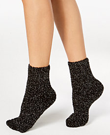 Charter Club Metallic Fuzzy Cozy Socks, Created for Macy's