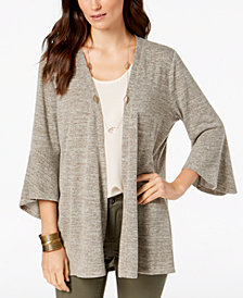 Style & Co Flared-Sleeve Open-Front Cardigan, Created for Macy's