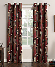 "Lichtenberg Intersect Printed Grommet Curtain 48"" x 84"" Panel"