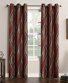 Lichtenberg Intersect Printed Grommet Curtain Panel Collection