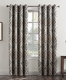 "Sun Zero Jude 50"" x 95"" Global Medallion-Print Grommet Curtain Panel"