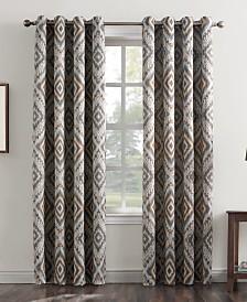 Sun Zero Jude Global Medallion-Print Grommet Curtain Panel Collection
