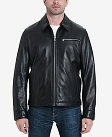 Men's Big & Tall James Dean Leather Jacket, Created for Macy's