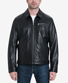 MICHAEL Michael Kors Men's Big & Tall James Dean Leather Jacket, Created for Macy's