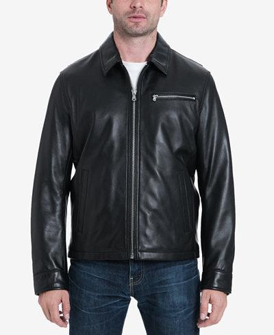MICHAEL Michael Kors Men's James Dean Leather Jacket, Created for Macy's