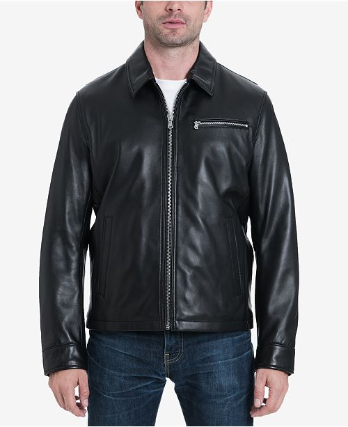 Michael Kors Men's James Dean Leather Jacket, Created for Macy's