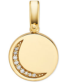 Michael Kors Women's Custom Kors 14K Gold-Plated Sterling Silver Moon Charm