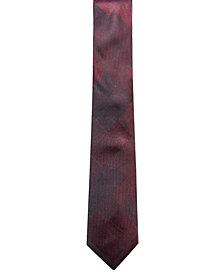 Alfani Men's Check Slim Silk Tie, Created for Macy's