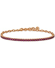 Rhodolite Garnet (3 ct. t.w.) Bracelet in 14k Rose Gold (Also Available in Blue Topaz)