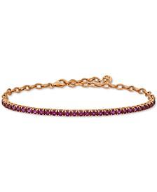Rhodolite Garnet (3 ct. t.w.) Bracelet in 14k Rose Gold