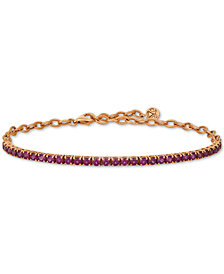 Le Vian® Rhodolite Garnet (3 ct. t.w.) Bracelet in 14k Rose Gold (Also Available in Blue Topaz)