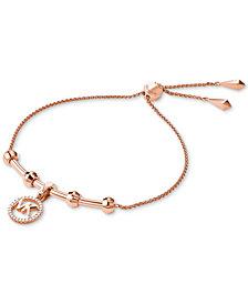 Michael Kors Women's Custom Kors Sterling Silver Logo Starter Bracelet
