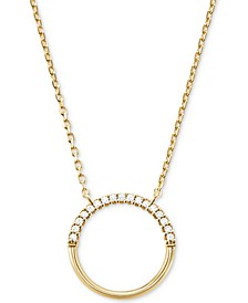 Women's Custom Kors Sterling Silver Pave Ring Starter Necklace