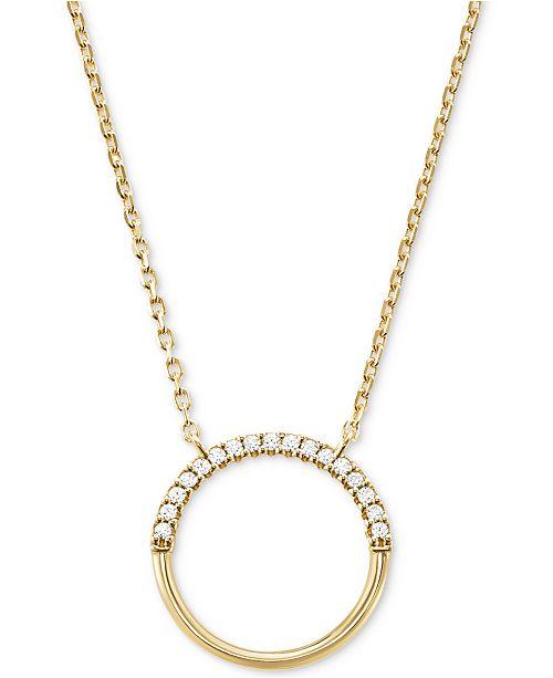 7929528217d6 ... Michael Kors Women s Custom Kors Sterling Silver Pave Ring Starter  Necklace ...