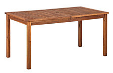 "60"" Outdoor Modern Acacia Wood Patio Simple Dining Table - Brown"