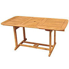 Acacia Wood Patio Butterfly Table - Brown