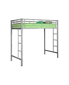 Premium Metal Twin Loft Bed - Silver