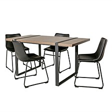 Urban Blend 5 Piece Dining Set - Driftwood/Black