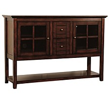"""52"""" Wood Console Table Buffet TV Stand - Espresso"""