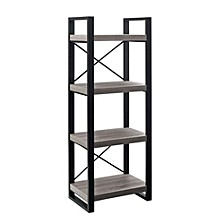 "62"" Multilevel Audio Media Storage Tower - Driftwood"