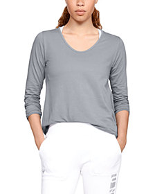 Under Armour Pindot Open Back Long Sleeve Top