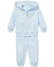 Ralph Lauren Baby Boys French Terry Hoodie & Pants Set