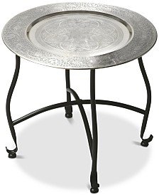 Moraccan Round Tray Table, Quick Ship