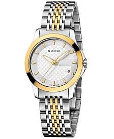 Women's Swiss G-Timeless Stainless Steel Bracelet Watch 27mm YA126511