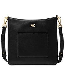MICHAEL Michael Kors Gloria Soft Leather Pocket Crossbody