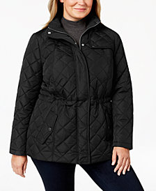 Charter Club Plus Size Quilted Zip-Front Jacket, Created for Macy's