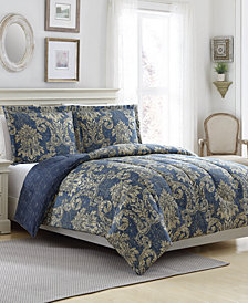 New Traditional Reversible 3-Pc. Full/Queen Comforter Set
