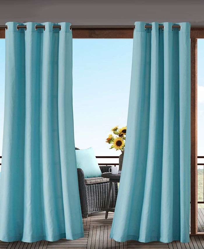 Madison Park - Pacifica Grommets Solid 3M Scotchgard Outdoor Panel Collection