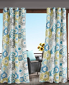 Madison Park Laguna Grommets Printed Medallion 3M Scotchgard Outdoor Panel Collection