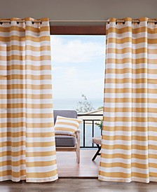 "Percee 54"" x 95"" Grommets Printed Cabana Stripe 3M Scotchgard Outdoor Panel"