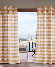 "Madison Park Percee 54"" x 108"" Grommets Printed Cabana Stripe 3M Scotchgard Outdoor Panel"