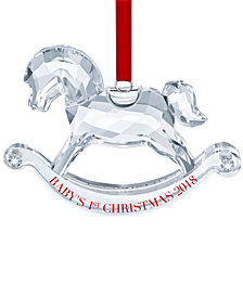 Swarovski Annual 2018 Edition Baby's 1st Christmas Ornament