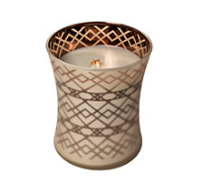 CLOSEOUT! WoodWick Medium Dancing Glass Geometric Candle