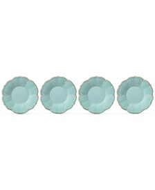 French Perle Melamine Set of 4 Accent Salad Plates