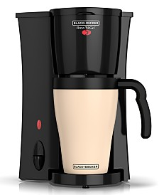 Black & Decker Brew 'n Go Personal Coffeemaker with Travel Mug, Black/White, DCM18