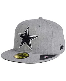 Dallas Cowboys Heather Black White 59FIFTY FITTED Cap