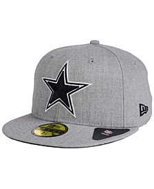 New Era Dallas Cowboys Heather Black White 59FIFTY FITTED Cap