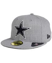 f5488b9ca62 New Era Dallas Cowboys Heather Black White 59FIFTY FITTED Cap