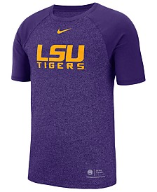 Nike Men's LSU Tigers Marled Raglan T-Shirt