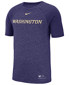 Nike Men's Washington Huskies Marled Raglan T-Shirt