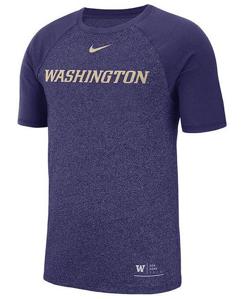 Nike Men's Washington Huskies Marled Raglan T-Shirt