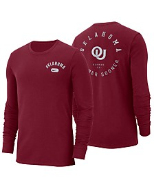 Nike Men's Oklahoma Sooners Retro Cotton Long Sleeve T-Shirt