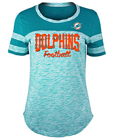 5th & Ocean Women's Miami Dolphins Space Dye T-Shirt