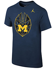 Jordan Michigan Wolverines Icon T-Shirt, Big Boys (8-20)