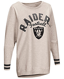 Touch by Alyssa Milano Women's Oakland Raiders Backfield Long Sleeve Top
